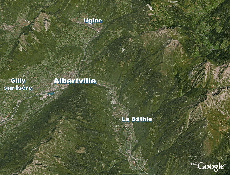 Carte Vallée de la Tarentaise